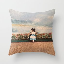 Francesca At Niagara Falls Throw Pillow