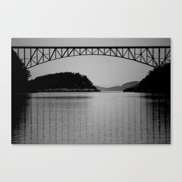 Bridge over Peaceful Waters Canvas Print