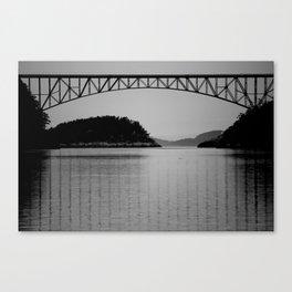 Bridge over Peaceful Waters Canvas Print
