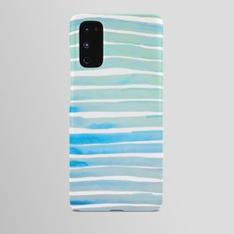 New Year Blue Water Lines Android Case