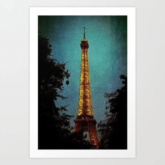 L'Eiffel - Eiffel Tower at Night Art Print