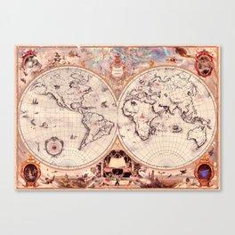 Wizarding Around the World Map Canvas Print