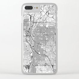 Denver White Map Clear iPhone Case