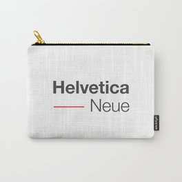 Helvetica Neue red & grey Carry-All Pouch