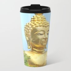 sitting budda Metal Travel Mug