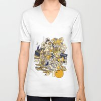 movies V-neck T-shirts featuring Movies Explosion by zaMp