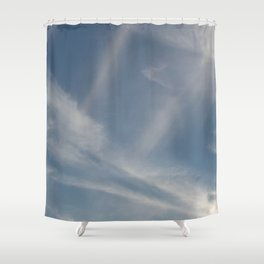 Spring Evening Sky // Cloud Photography Shower Curtain