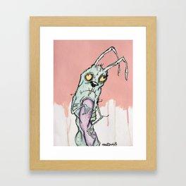 Zombie Bunny Framed Art Print