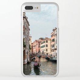 Gondolas in Venice Clear iPhone Case