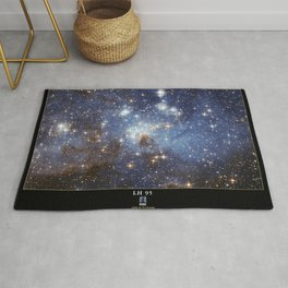 NASA Hubble Space Telescope Poster - LH 95, a Stellar Nursery in the Large Magellanic Cloud Rug