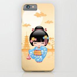 Japanese Maiko Kokeshi Doll iPhone Case