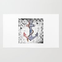 anchorman Area & Throw Rugs featuring Anchorman by Funniestplace
