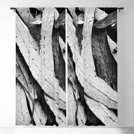 Fallen Eucalyptus Leaves Texture Black and White Blackout Curtain