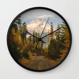 Autumn Mount Hood Scene Wall Clock