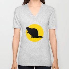 beaver and moon Unisex V-Neck