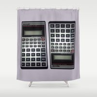 math Shower Curtains featuring Fuck Math by Wis Marvin