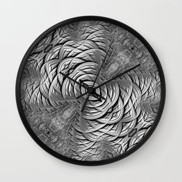 Silver Grey Wiring Wall Clock