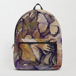 Sugar Coated Sour: Autumn (nude curvy pin up with butterflies) Backpack