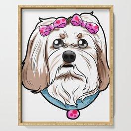 Havanese Dog Puppy Doggie Present Gift Serving Tray