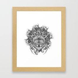 Gorgon Mandala Framed Art Print