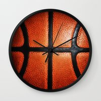 lakers Wall Clocks featuring Basketball by alifart