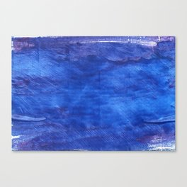 Cerulean blue abstract watercolor Canvas Print
