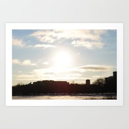 memories of last winter. Art Print