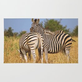 Life of the Zebras, Africa wildlife Rug