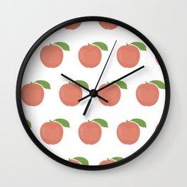 Orange Peaches Wall Clock