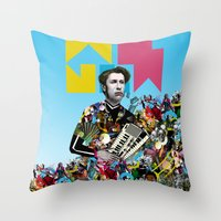 rave Throw Pillows featuring RAVE by DIVIDUS