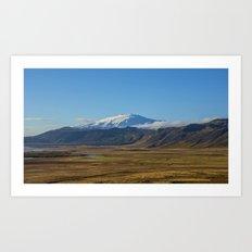 Snæfellsjökull volcano Art Print