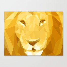 """Fragments """"Lion"""" Canvas Print"""