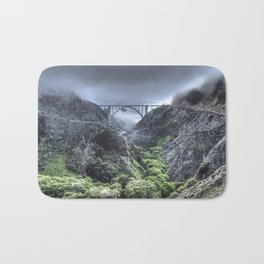 Bixby Bridge Through the Fog and Dale Bath Mat