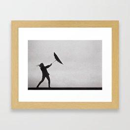 Through Thick & Thin - fine art black and white film photography grain Framed Art Print