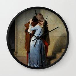 The Kiss by Francesco Hayez Wall Clock