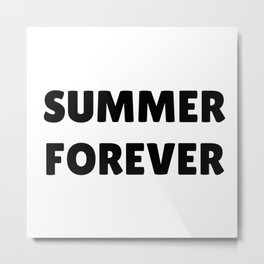 Summer Forever in Black Metal Print