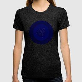 Blue Ornament Cricle T-shirt