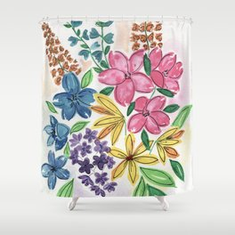 These Flowers Shower Curtain