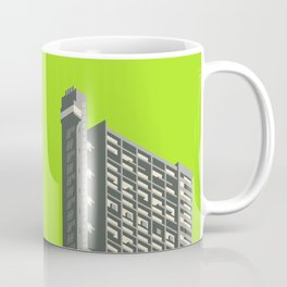 Trellick Tower London Brutalist Architecture - Lime Coffee Mug