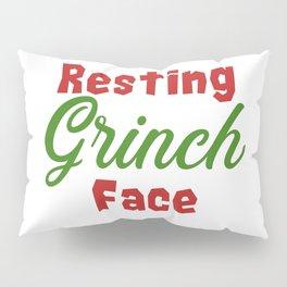 Resting Grinch Face - Christmas Xmas festive design Pillow Sham