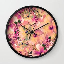 Rose Glow Tropic Wall Clock