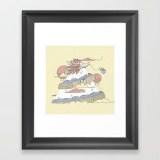 Dragon ride Framed Art Print