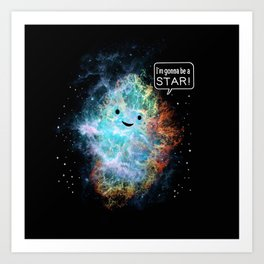 A Star Is Born Art Print