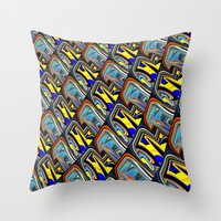 scales Throw Pillows featuring Scales by David  Gough