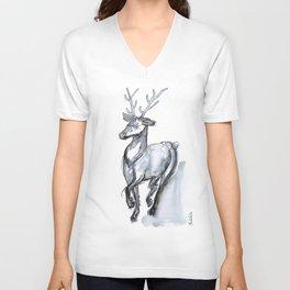 Buck, Watercolor Unisex V-Neck