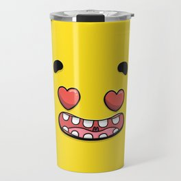 Yellow Smileys - In Love Travel Mug
