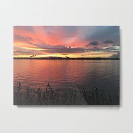 Pink Reflection - Sunsets at The Fly series Metal Print