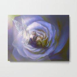 Fairy tale fantasy - purple rose Metal Print