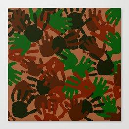 Evidence v1: Camo Canvas Print