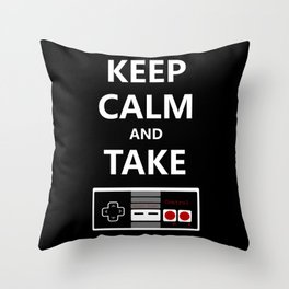 Keep Calm and Take Control Throw Pillow